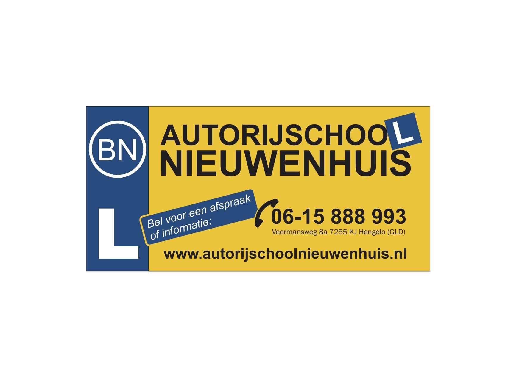 autorijschool nieuwenhuis advertentie